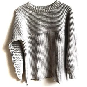 Topshop Boutique Gray Puff Sleeve Chunky Sweater 6